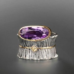 Amethyst Silver/Gold Ring